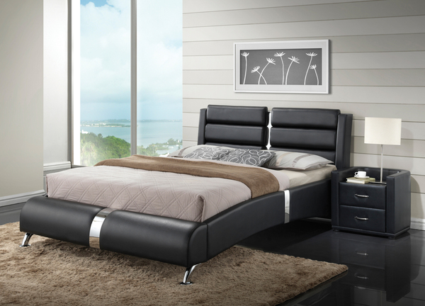 Contemporary Bedroom Set London Black By Acme Furniture: Unique Furniture
